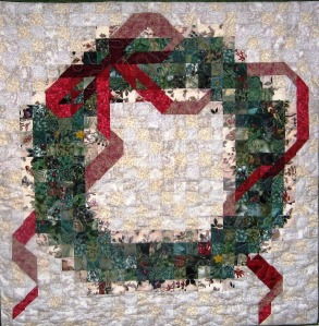 Merry Christmas, 36 x 36 inch quilt by O.V. Branltey,  2002.
